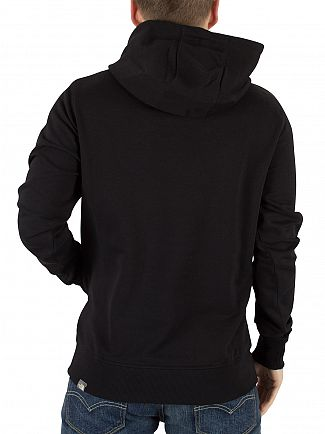 The North Face Black Drew Peak Graphic Logo Hoodie