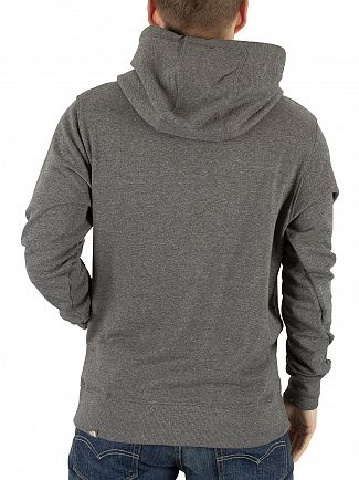 The North Face Mid Grey Heather Drew Peak Graphic Logo Hoodie