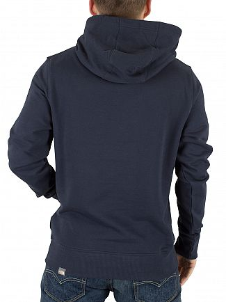 The North Face Urban Navy Drew Peak Graphic Logo Hoodie