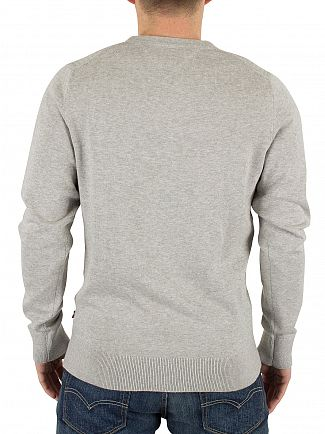 Tommy Hilfiger Cloud Heather BR Textured Logo Knit