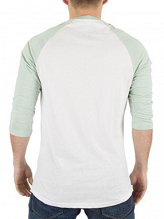 Vans White/Split Green Classic Raglan Logo T-Shirt
