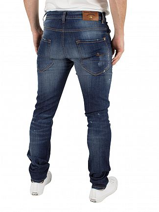 Vivienne Westwood Dark Denim Don Karnage Distressed Jeans