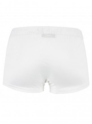 Vivienne Westwood White Logo Waistband Trunks