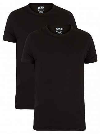 Edwin Black 2 Pack Plain T-Shirt