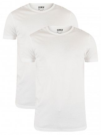 Edwin White 2 Pack Plain T-Shirt