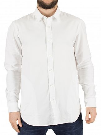 Edwin White Cadet Oxford Curved Hem Shirt