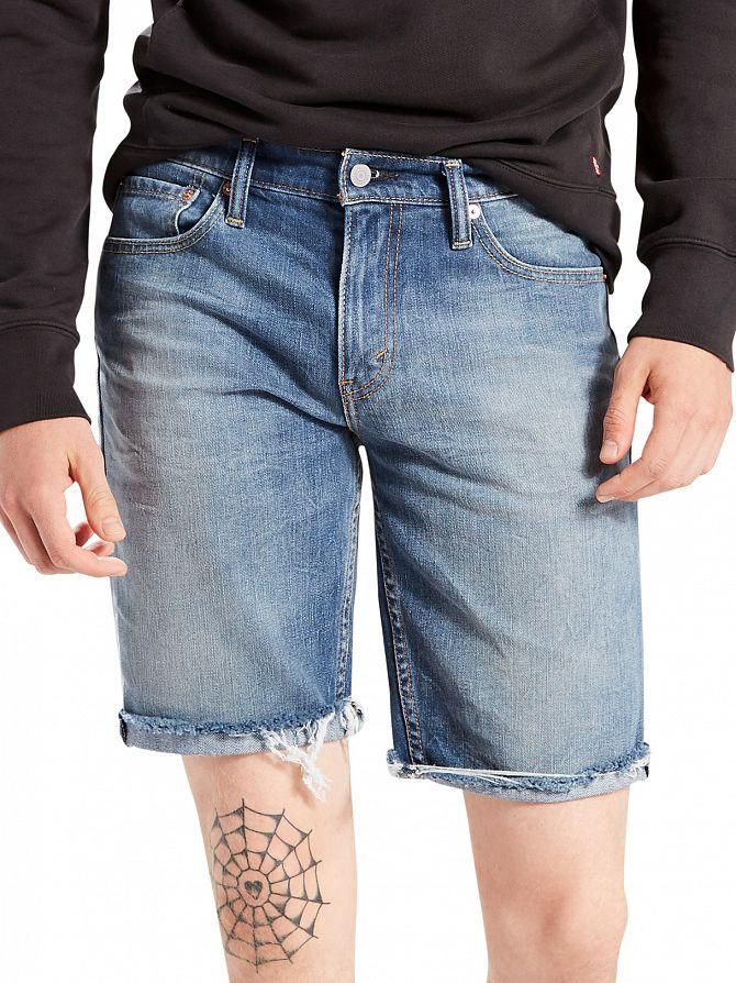 Levi's Mid Blue 511 Slim Fit Cut Off Hippie Boy Denim Shorts