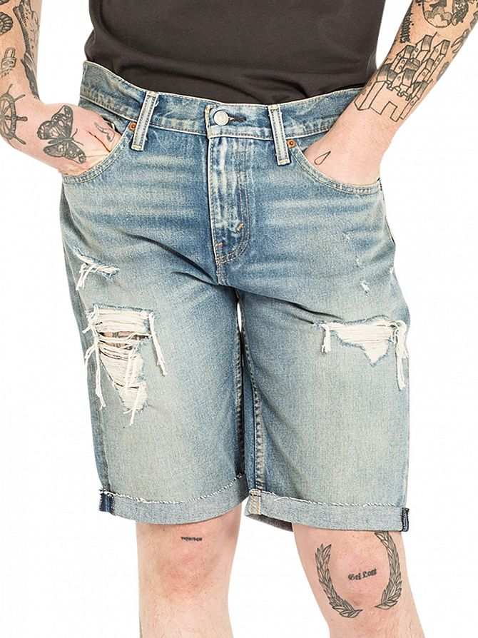 Levi's Mid Blue 511 Slim Fit Cut Off Surfside Denim Shorts