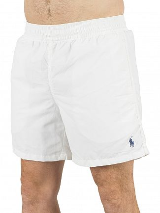 Polo Ralph Lauren White Hawaiian Logo Swim Shorts