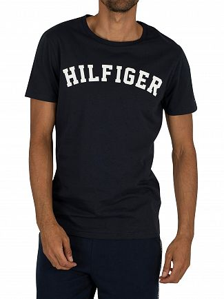 Tommy Hilfiger Navy Blazer Arched Logo T-Shirt