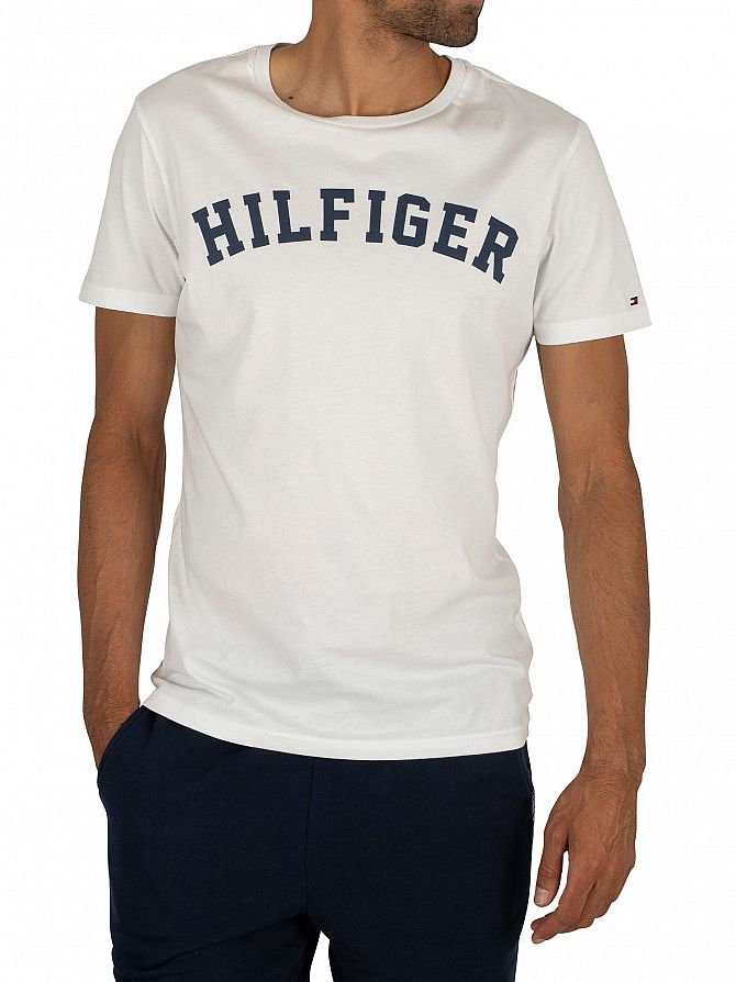 Tommy Hilfiger White Arched Logo T-Shirt
