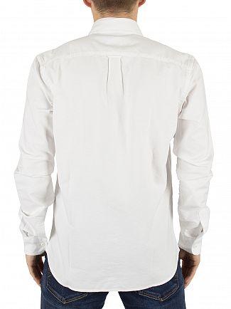Edwin White Cadet Oxford Curved Hem Shirt