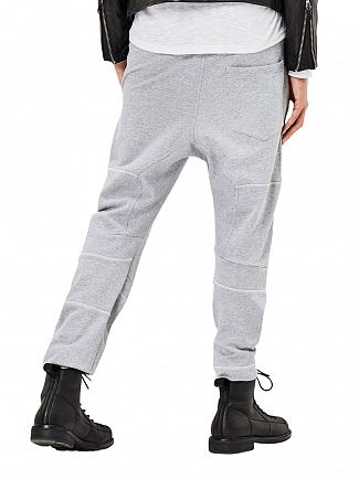 G-Star Grey Heather Rackam 3D Tapered Panelled Logo Joggers