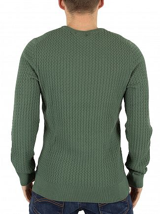 J Lindeberg Dusty Green Ryan Urban Braid Knit