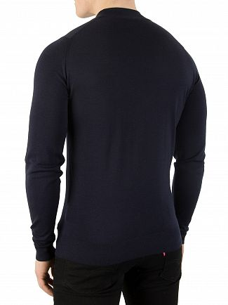 John Smedley Midnight Harcourt Turtle Neck Knit