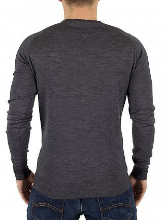 John Smedley Charcoal Lundy Longsleeved Knit