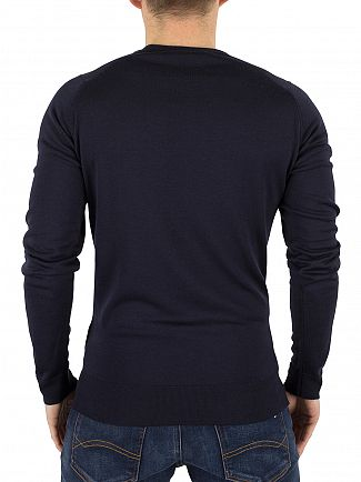 John Smedley Midnight Lundy Longsleeved Knit