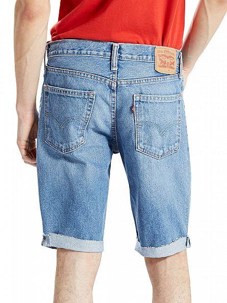 Levi's Mid Blue 511 Cut Off Bob Slim Fit Denim Shorts