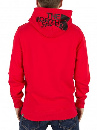 The North Face Red Left Chest Logo Hoodie