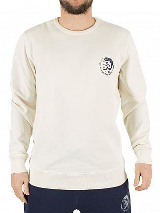 Diesel Cream Willy Only The Brave Sweatshirt
