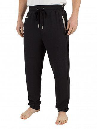 Lacoste Black Panelled Logo Pyjama Bottoms