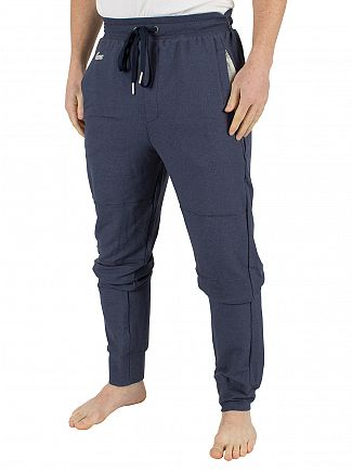 Lacoste Navy Blue Panelled Logo Pyjama Bottoms