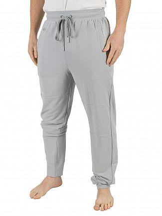 Lacoste Silver Grey Melange Panelled Logo Pyjama Bottoms