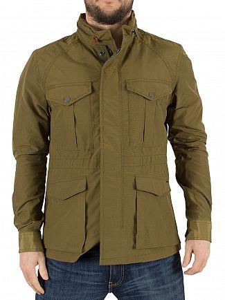 Scotch & Soda Green Ams Blauw Military Jacket