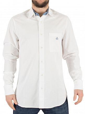 Vivienne Westwood White Detachable Details Logo Shirt