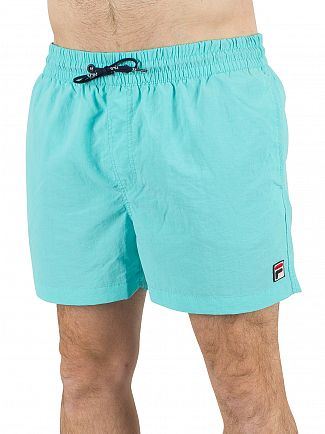 Fila Vintage Blue Radience Artoni Water Logo Swim Shorts