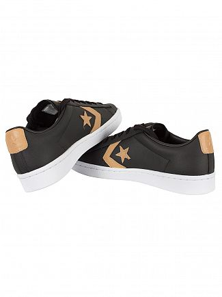 Converse Black/Tan/Black PL 76 OX Trainers