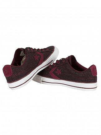 Converse Deep Bordeaux/Rhubarb/White Star Player OX Trainers