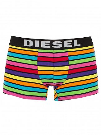 Diesel Black Multi 3 Pack Logo Pattern Trunks