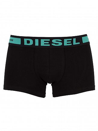 Diesel Black 3 Pack Logo Waistband Trunks
