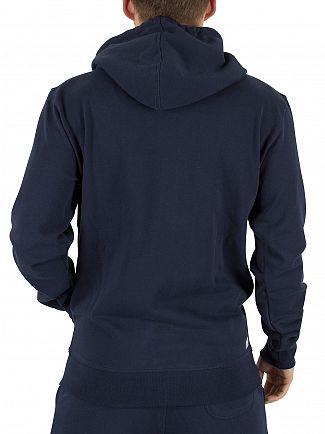 Diesel Navy Brandon Only The Brave Logo Zip Hoodie