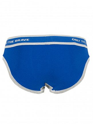 Diesel Royal Blue Fresh & Bright Logo Briefs