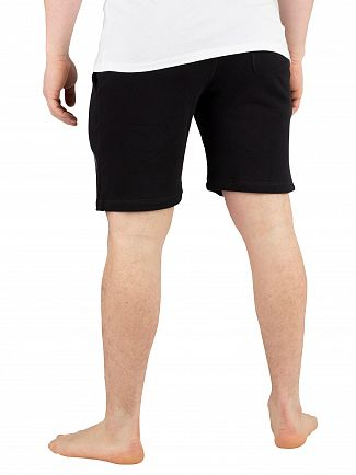 Diesel Black Pan Only The Brave Logo Sweat Shorts