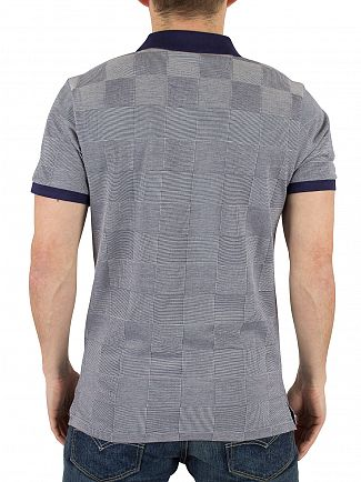 Gant Shadow Blue Square Oxford Pique Logo Polo Shirt