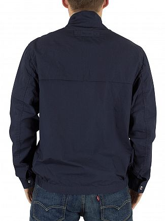 Gant Indigo Blue The Poplin Harrington Bomber Jacket