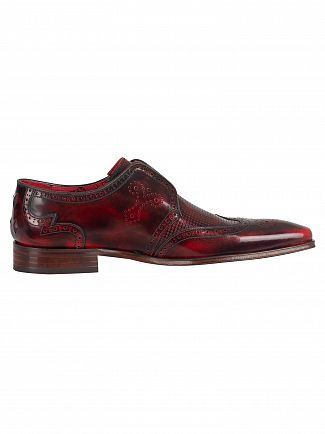 Jeffery West College Red Scarf Polished Shoes