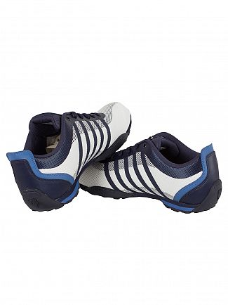 K-Swiss White/Navy/Brunner Blue Arvee 1.5 Tech Trainers