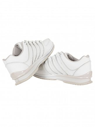 K-Swiss White/Windchime/Silver Rinzler SP Fade Trainers