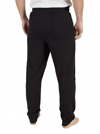 Lacoste Black Panelled Logo Pyjama Bottoms