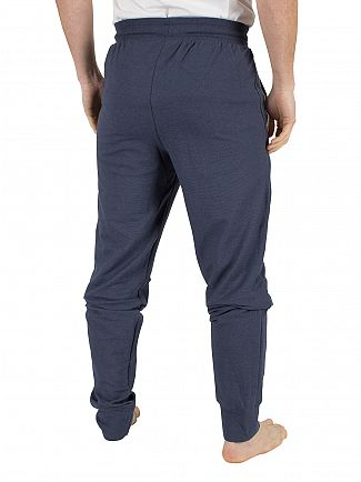 Lacoste Navy Blue Panelled Logo Pyjama Bottoms