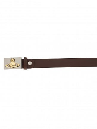 Vivienne Westwood Brown Orb Logo Buckle Belt