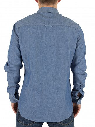 Vivienne Westwood Blue Denim Detachable Details Logo Shirt