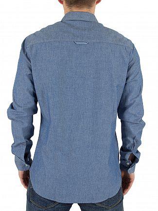 Vivienne Westwood Blue Denim Detachable Details Logo Shirt