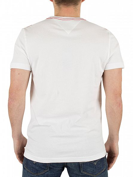 tommy hilfiger classic white carl pocket t shirt stand out. Black Bedroom Furniture Sets. Home Design Ideas