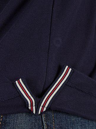 Fila Vintage Peacoat Matcho Tipped Logo Polo Shirt