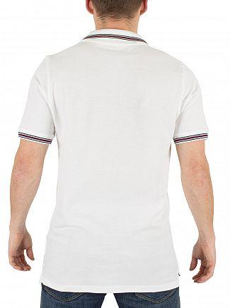 Fila Vintage White Matcho Tipped Logo Polo Shirt
